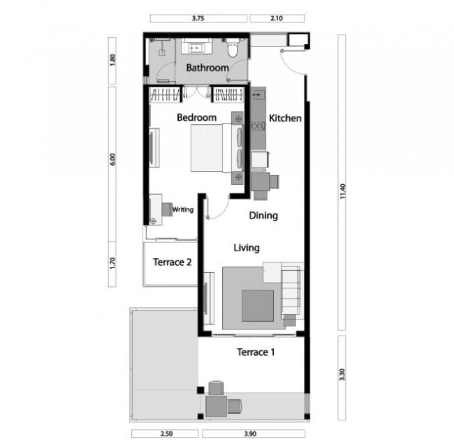 1-Bedroom Unit
