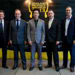 From left to right: Judging panel members Clayton Wade, Ian Hamilton, Sunchai Nuengsit (chairman) and Russ Downing; Terry Blackburn (CEO, Ensign Media)